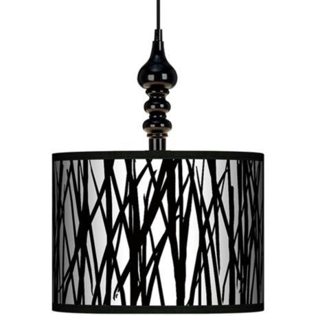 Black Jagged Stripes 13 1 2 Wide Swag Chandelier Lampsplus
