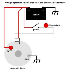 how to wire ignition switch for 3 wire alternator  Google