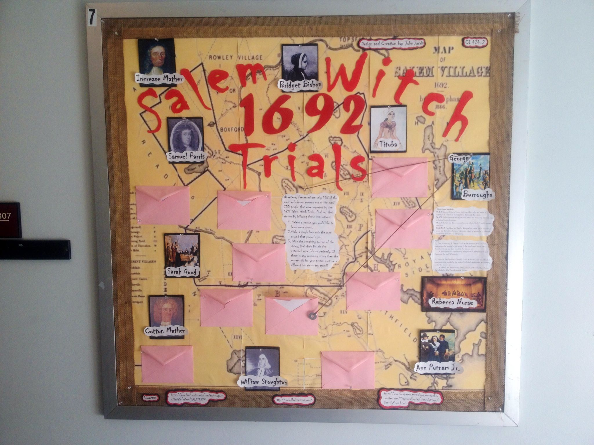 Salem Witch Trials Bulletin Board