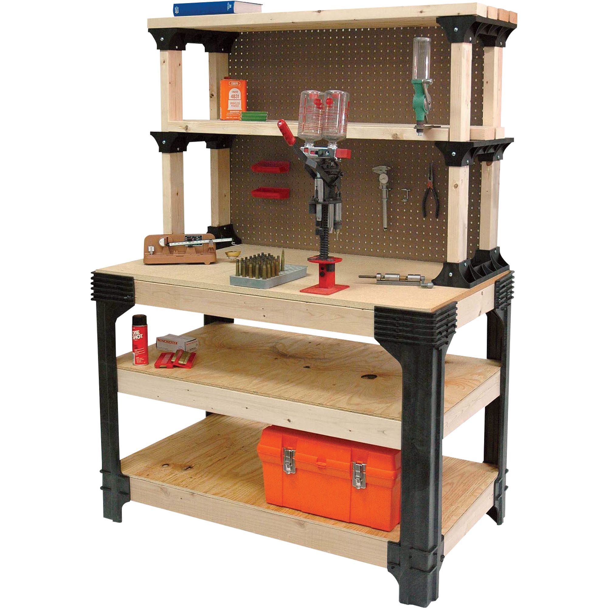 2x4 Basics AnySize Workbench Kit With ShelfLinks Model