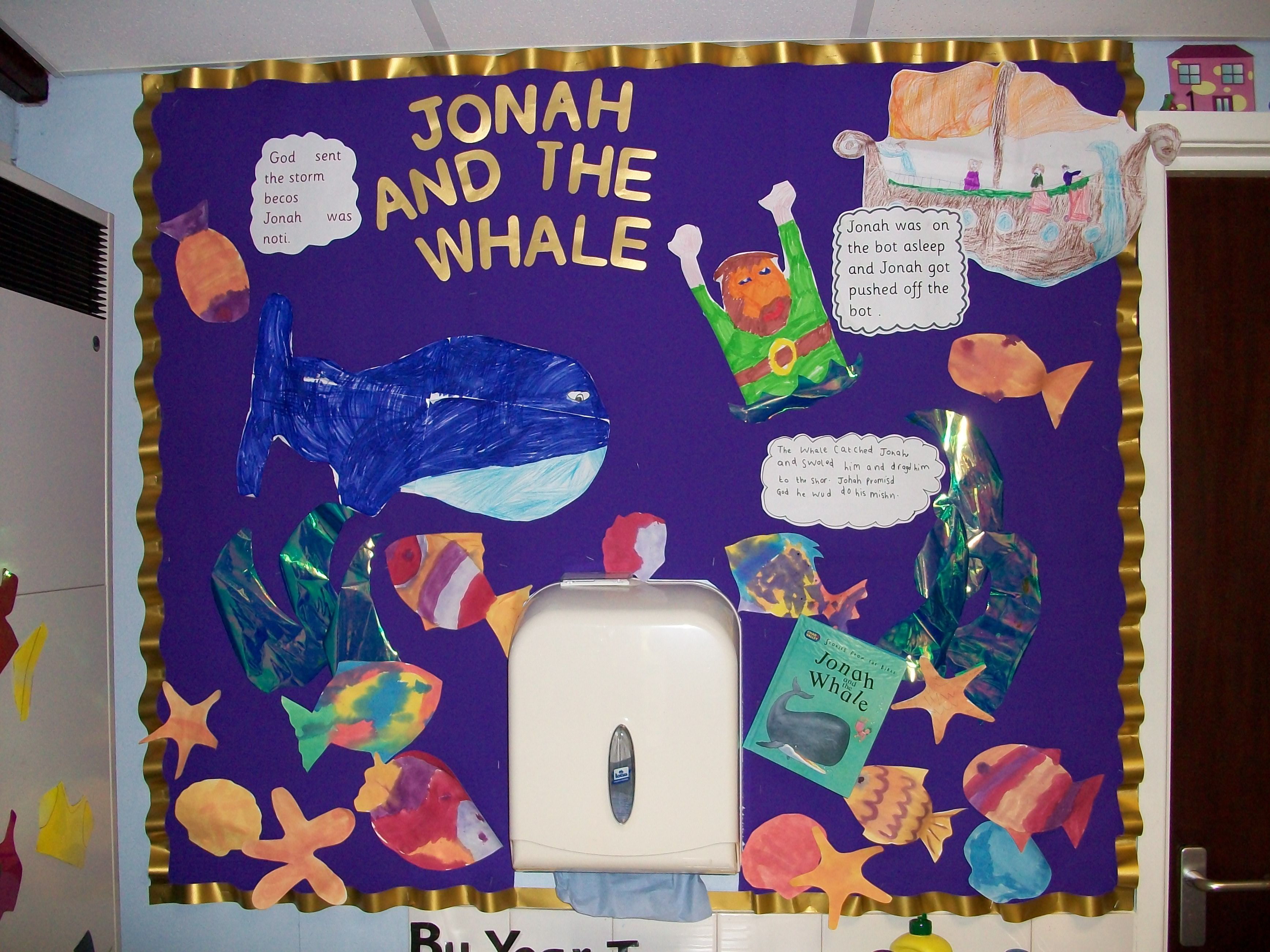 Re Display From Ks1 Illustrating The Bible Story Jonah And The Whale