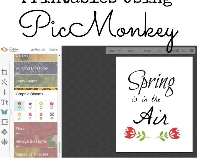 Pic Monkey Is Free To Use And Perfect For Making Your Own Printables For Home Decorating
