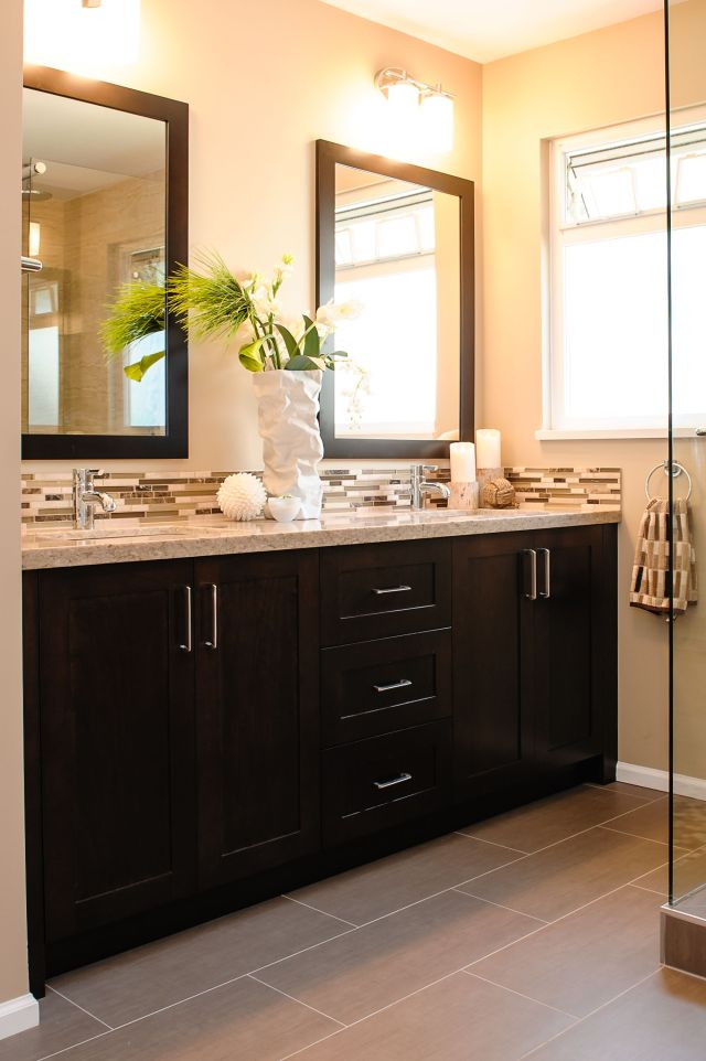 Here s what the 12x24 gray tile would look like in a bathroom with