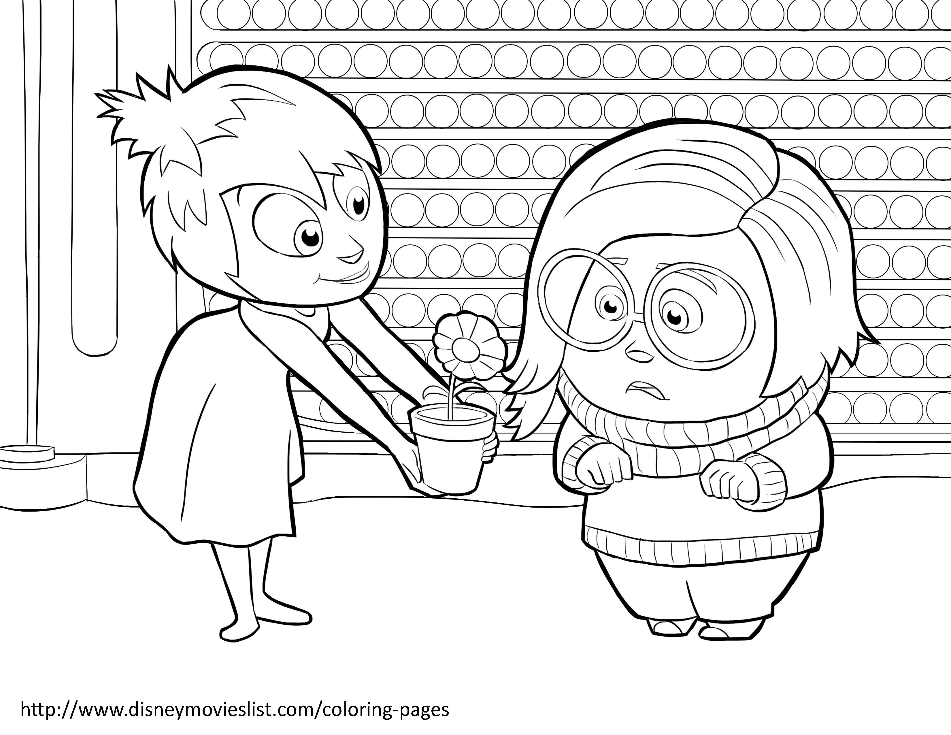 Disney S Inside Out Coloring Pages Sheet Free Disney