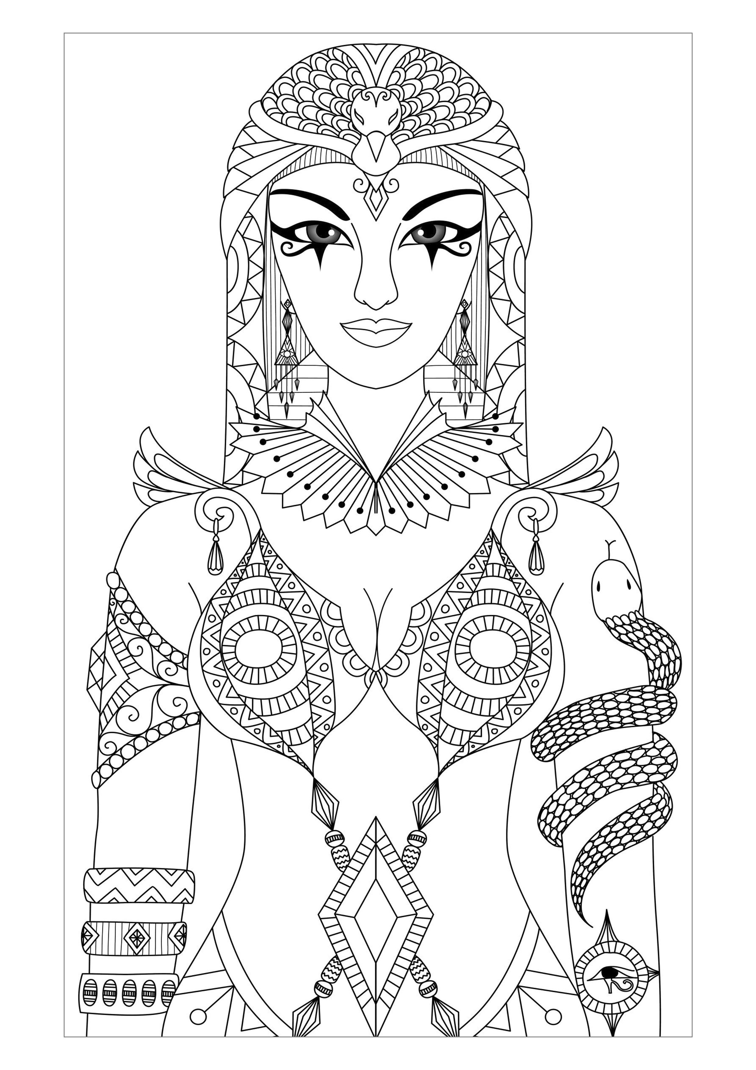 Egyptian Queen Coloring Pages