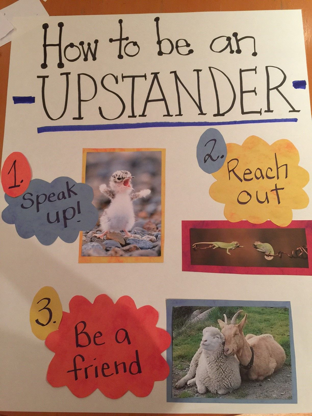 Upstander Poster Made By Lexington Volunteers For The Say