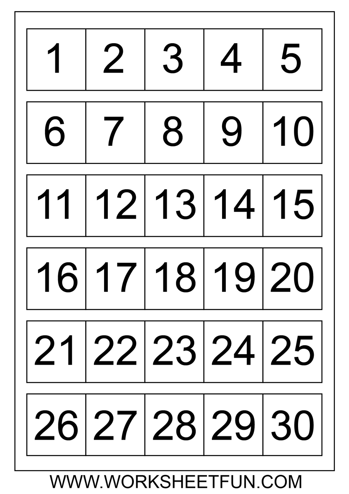 Large Printable Numbers 1 100