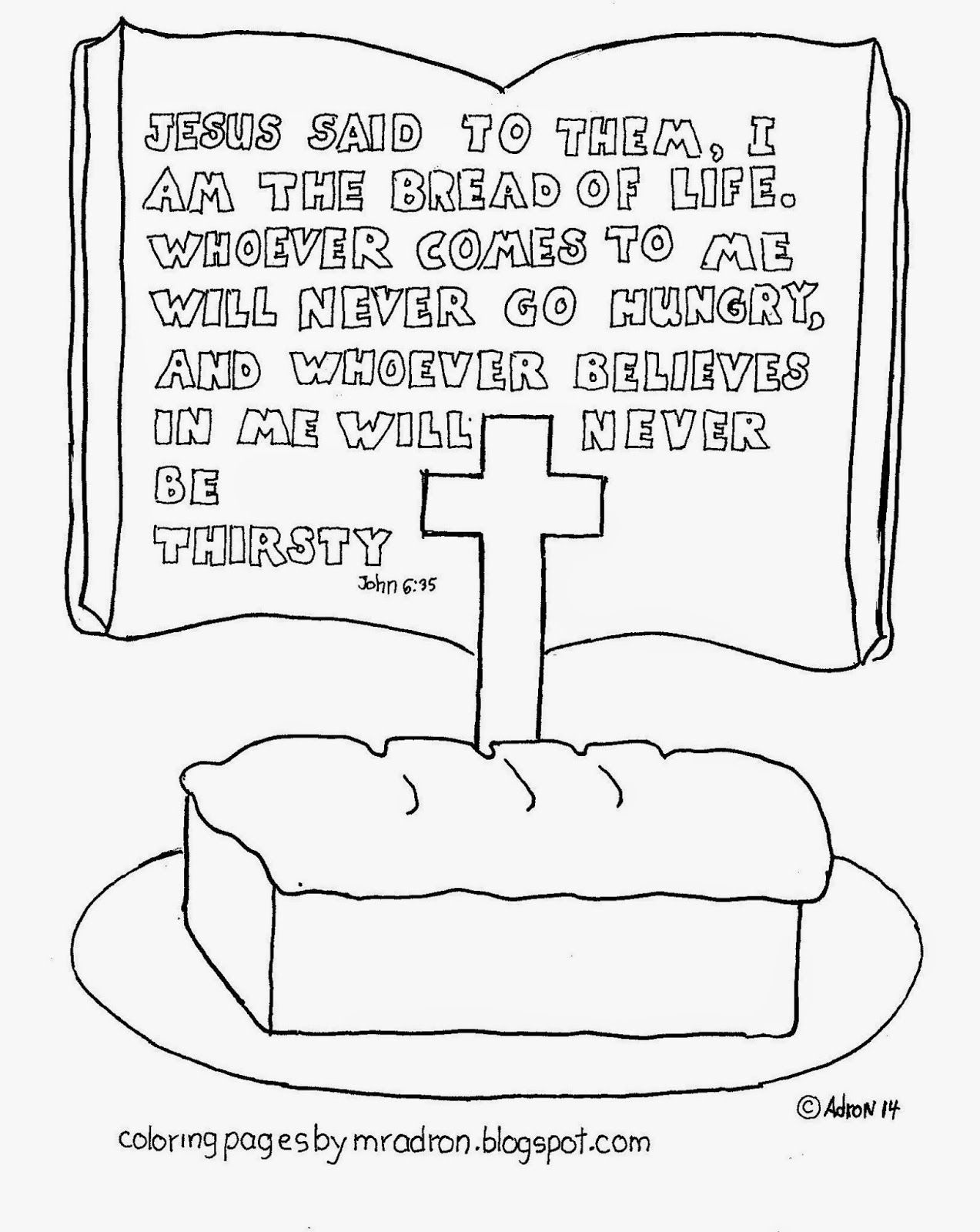I Am The Bread Of Life Words Of Jesus Coloring Page See More At My Blog