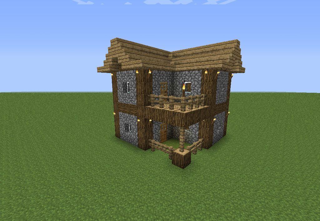 An Easy To Make Minecraft House Minecraft Pinterest
