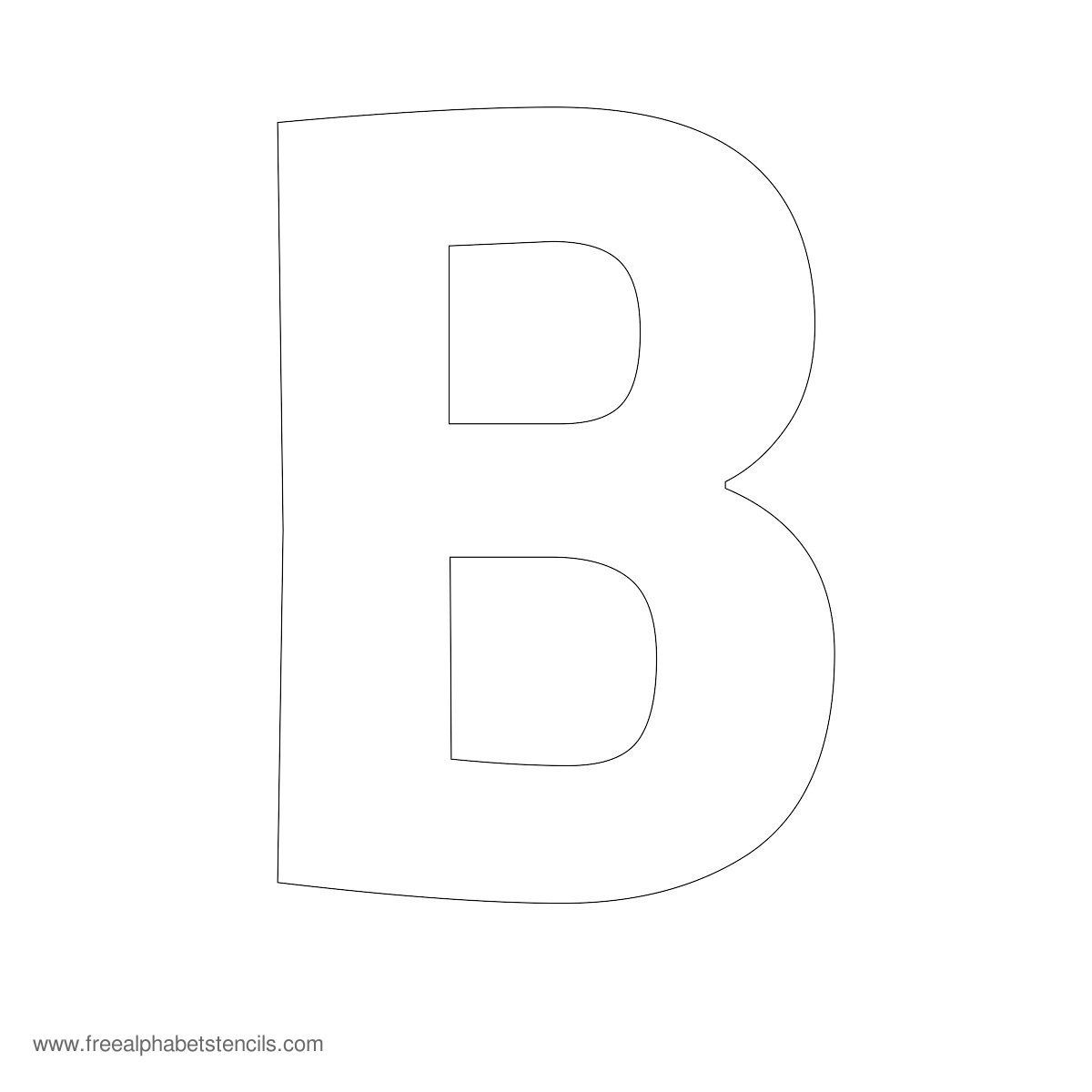 Large Alphabet Stencil B