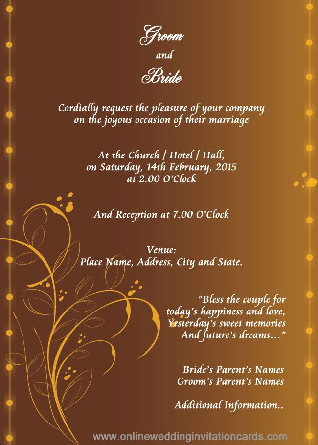 Marriage Invitations Cards – Marraige Invitation Cards