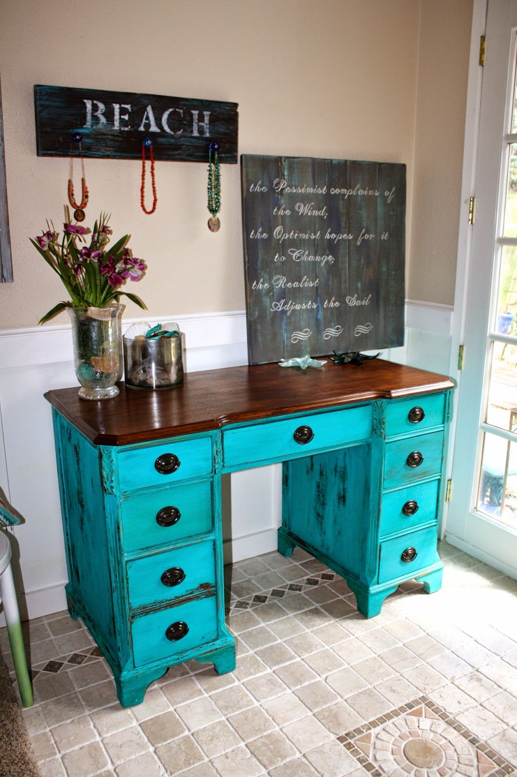 i get so many compliments on this turquoise color milk on desk color ideas id=30674