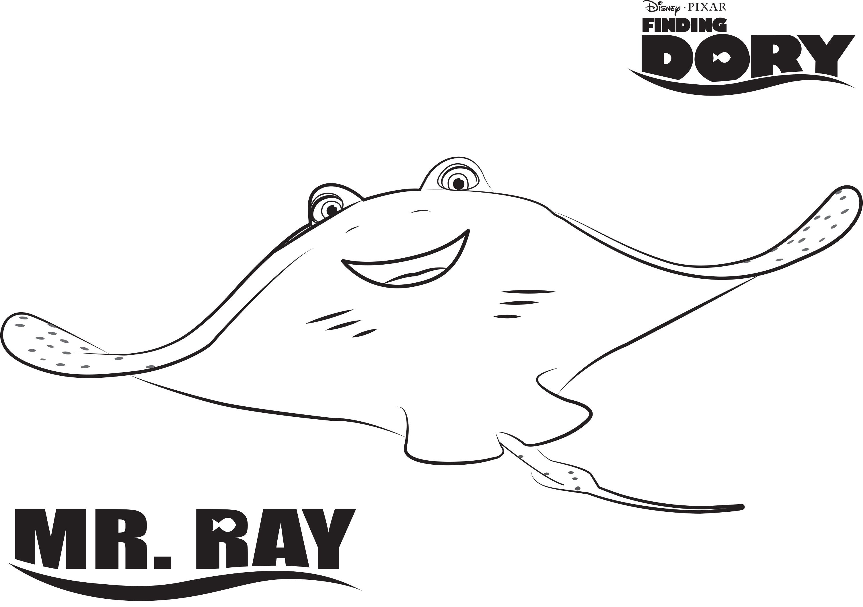 Disney S Finding Dory Mr Ray Coloring Page