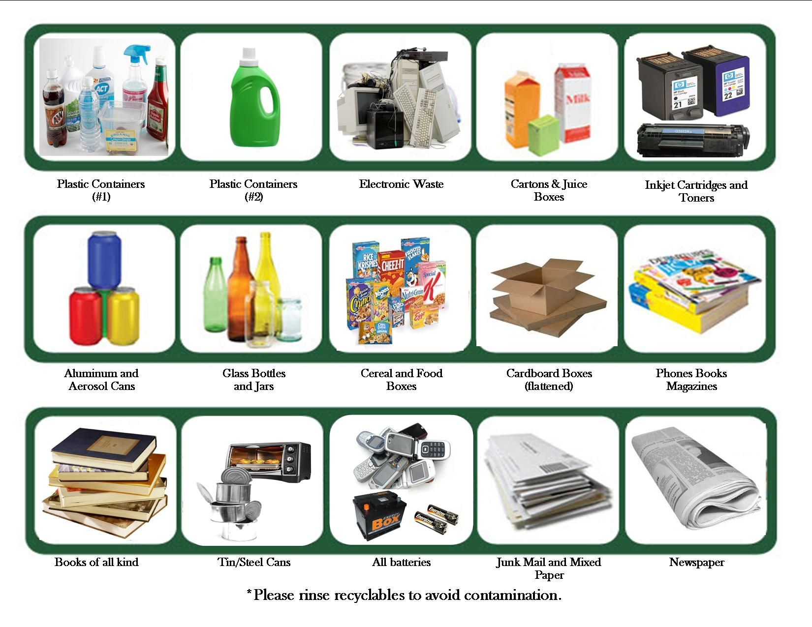Items Accepted By Most Recycling Centers Include Some