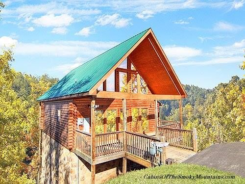 "a nice catch"" 1-bedroom cabin above gatlinburg, tn, with a great"