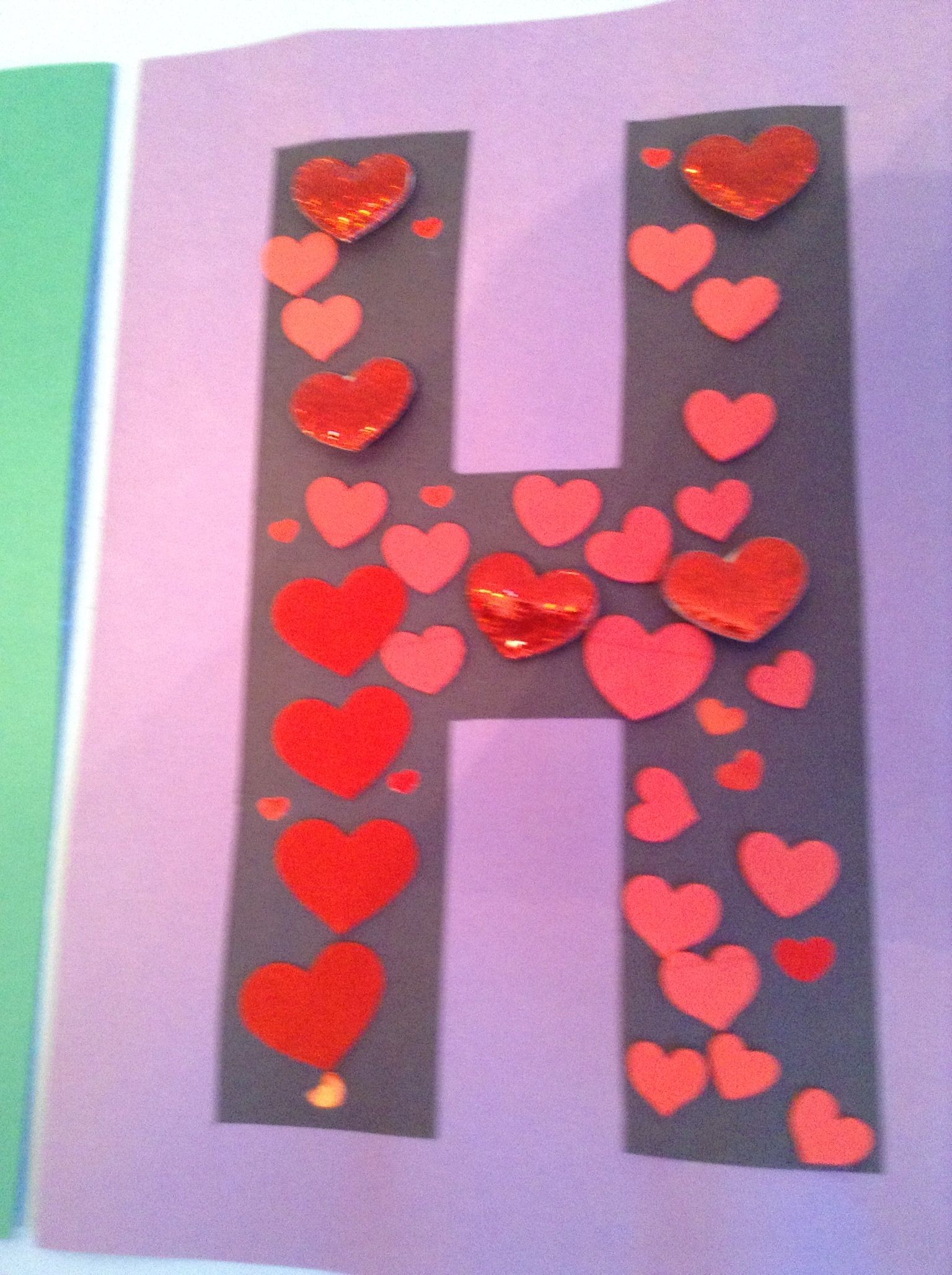 H Is For Heart Craft