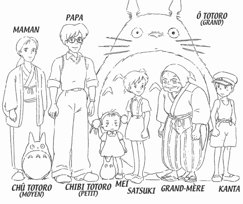 studio ghibli totoro coloring pages sketch coloring page