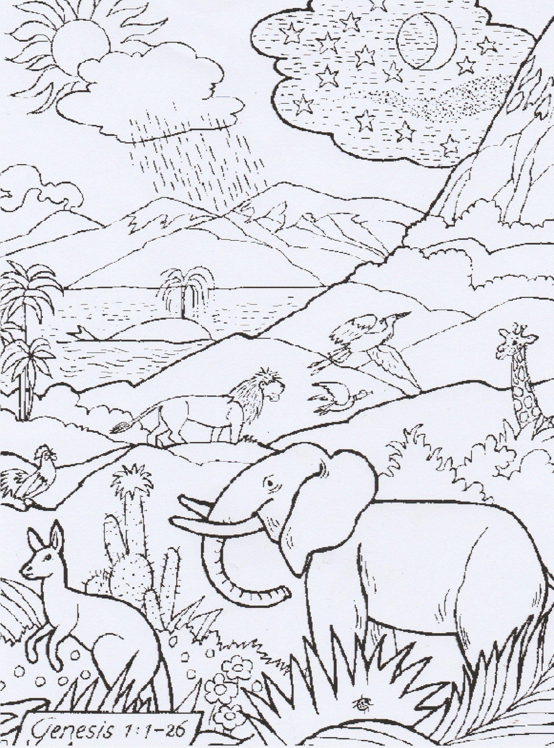 Teken Adam En Eva In Het Paradijs En Kleur De Kleurplaat In