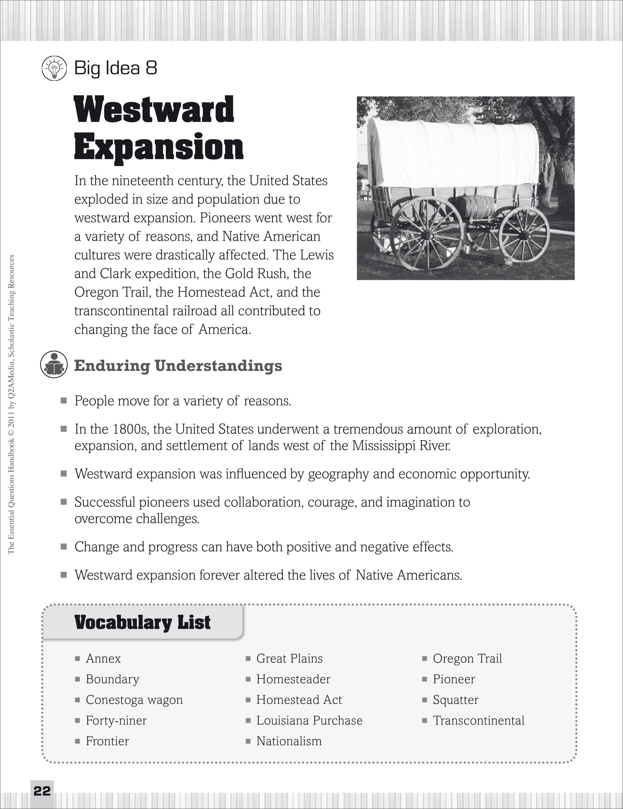 Printables Westward Expansion Worksheet Messygracebook Thousands Of Printable Activities