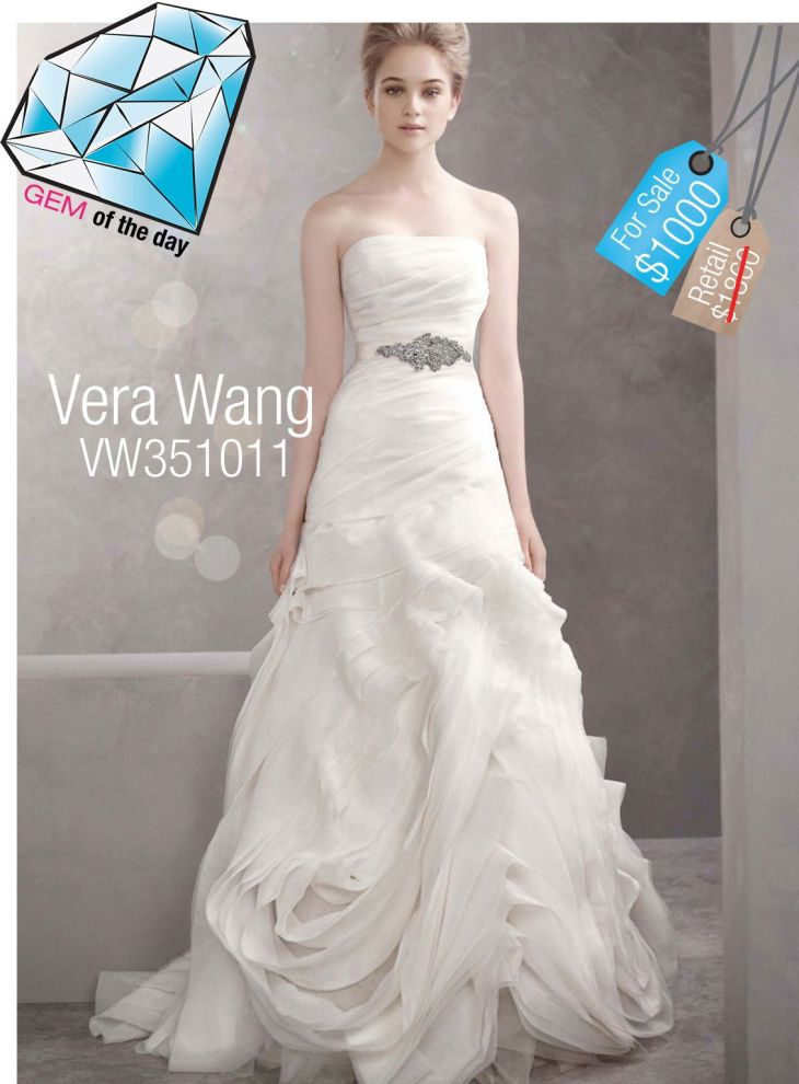 Vera Wang Used Wedding Gown  off   For more Vera Wang