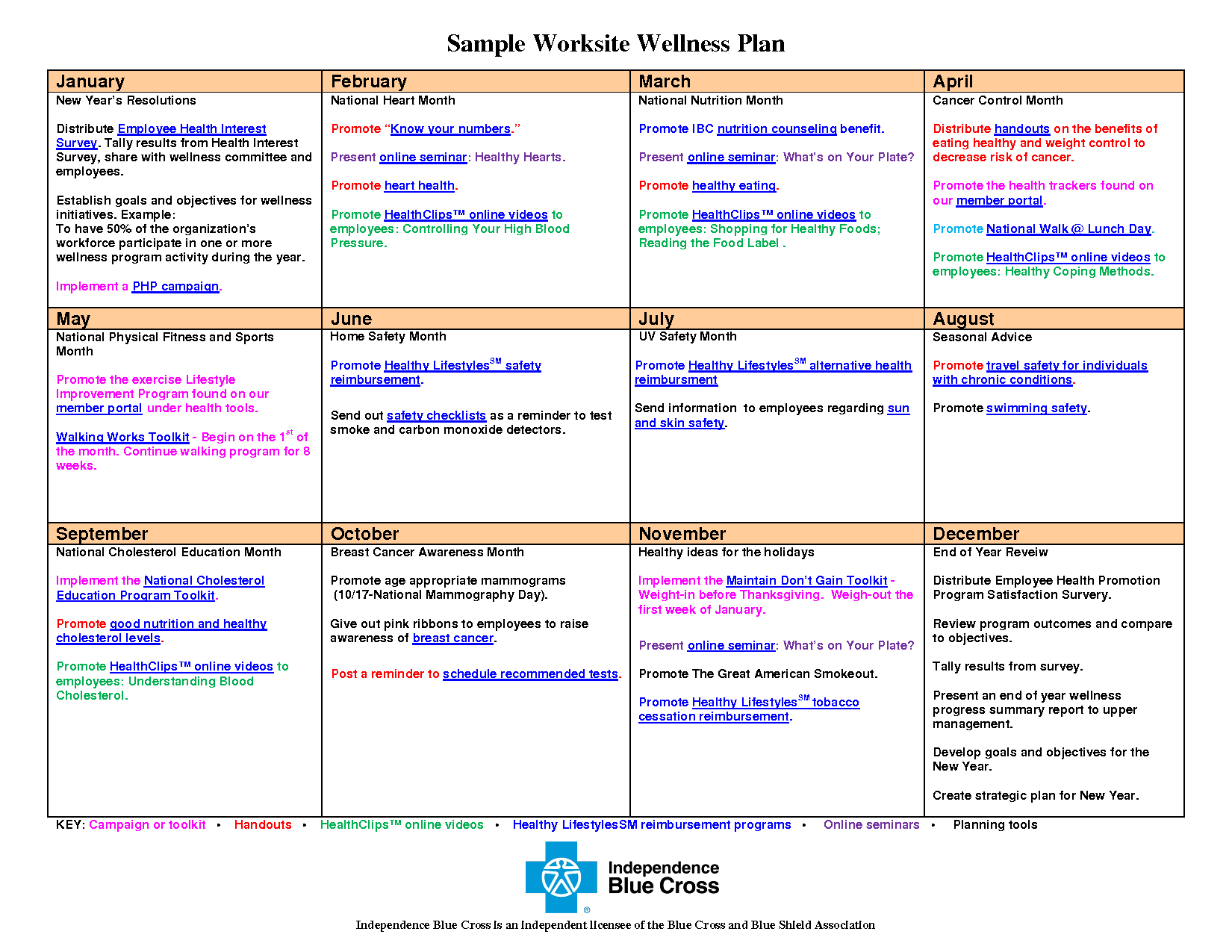 Personal Wellness Plan Template