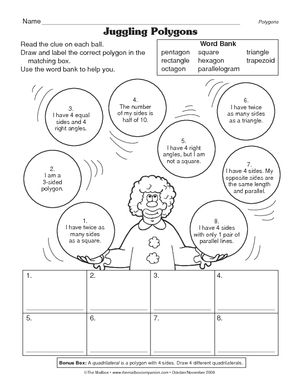 Polygons Worksheet 3 G A 1 3 Guest