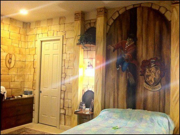 Http Oneredshoe Co Uk Images Muralport Harry Potter Mural Jpg. Harry Potter Bedroom Wallpaper   Bedroom Style Ideas