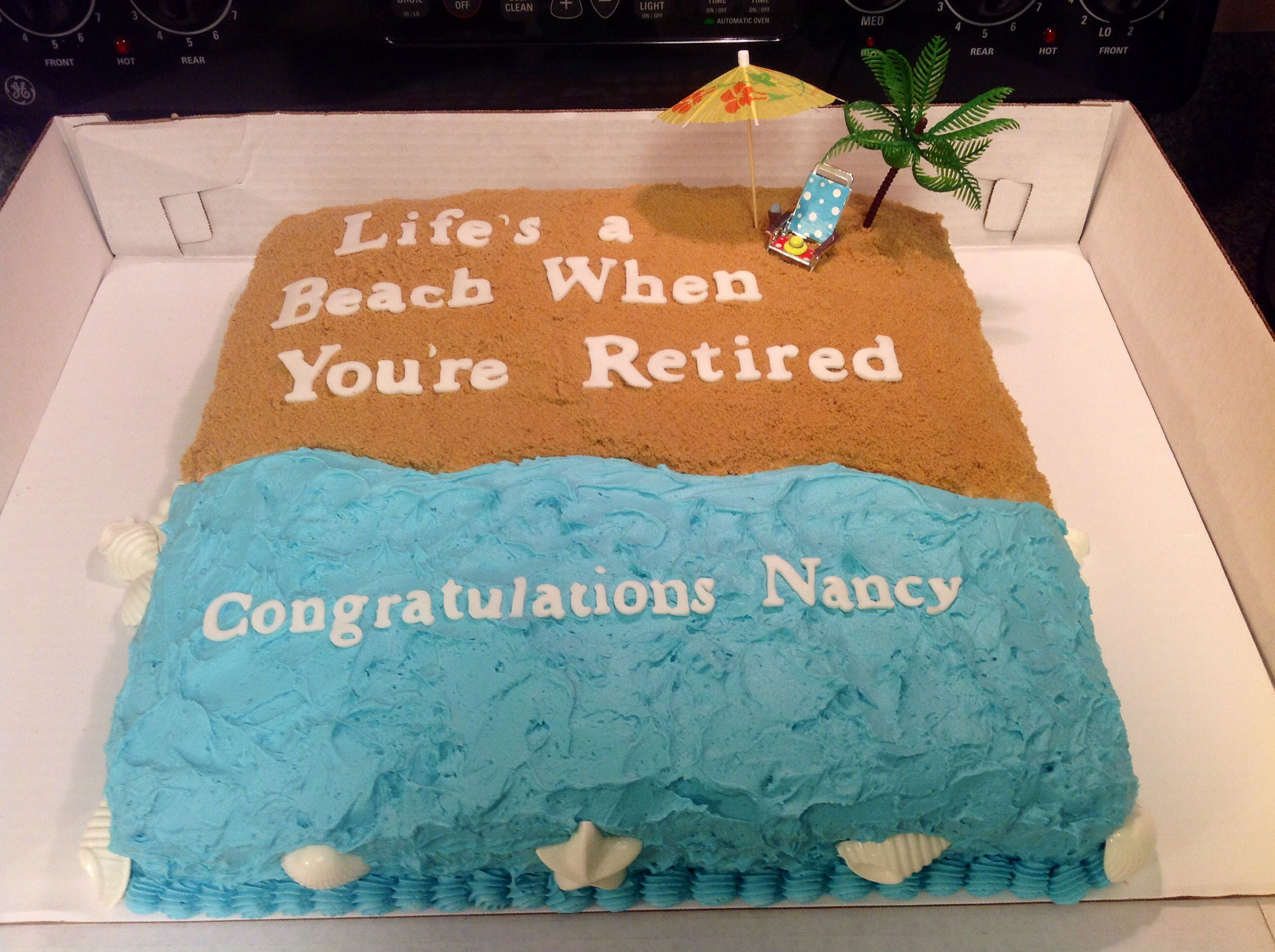 Sheet Cake Decorating Ideas For Retirement