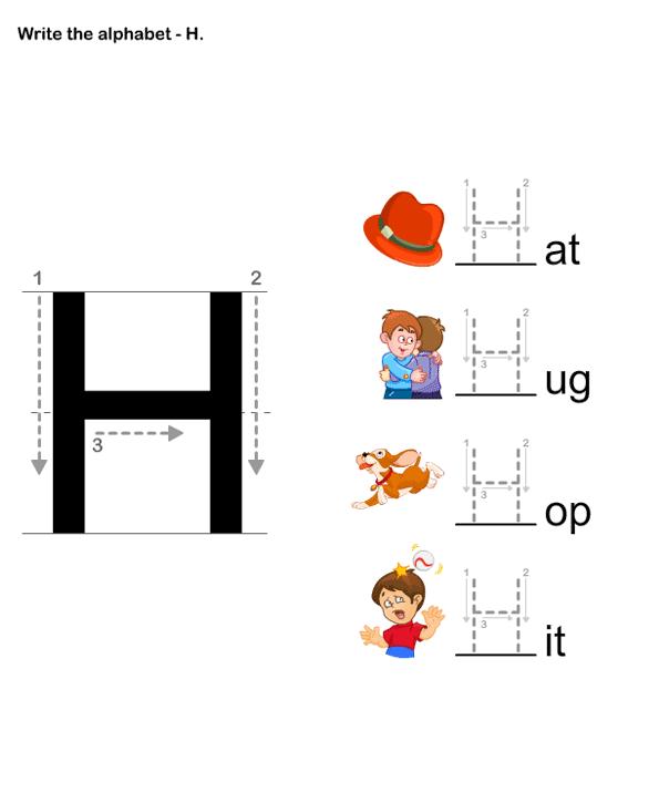 Letter Writing H - esl-efl Worksheets - preschool ...