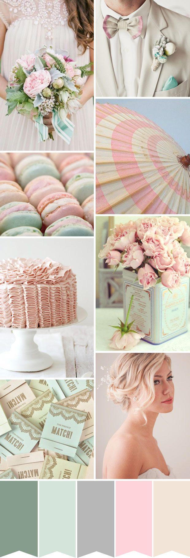 Pretty Pastels Wedding Palette  Powder Pink and Duck Egg Blue
