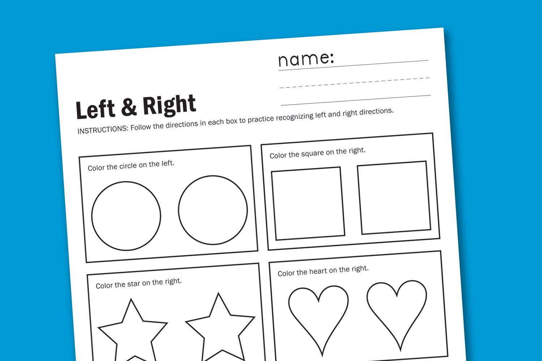 Shapes Kindergarten Worksheet Following Directions