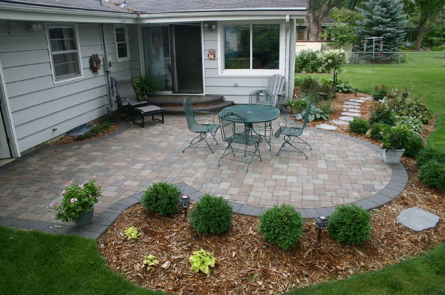 outdoor concrete patio ideas next to brick images | Brick ... on Square Patio Designs  id=78224