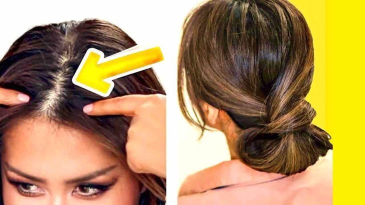 MINUTE ELEGANT BUN for THIN HAIR EASY UPDO HAIRSTYLES for