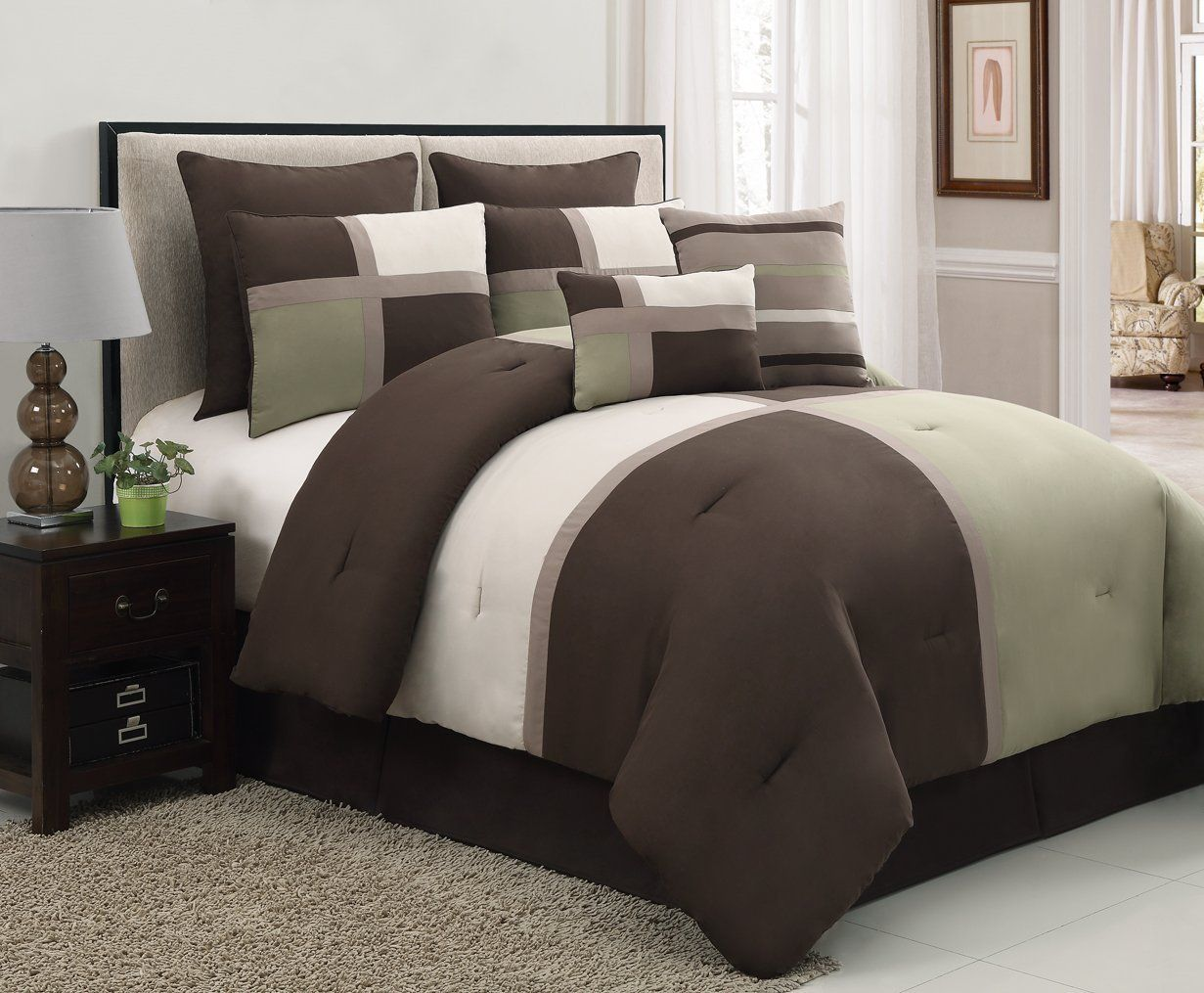 contemporary bedding sets for men | < living spaces | pinterest