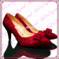 Low heel dress shoes for wedding   Watch here  Aidocrystal Sexy Dorothy Ruby Red Crystals