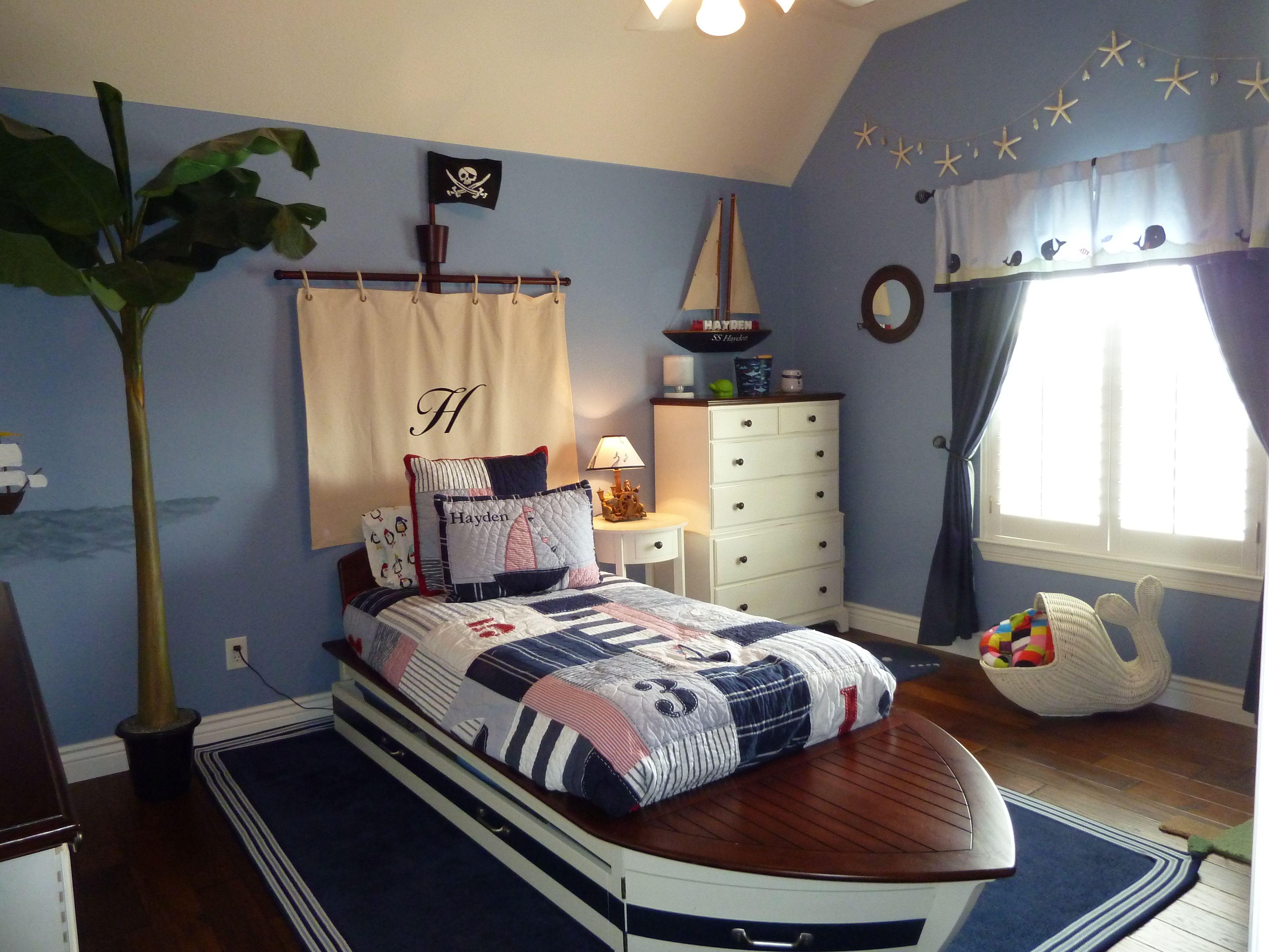 boys nautical pirate themed bedroom   kid's room   pinterest