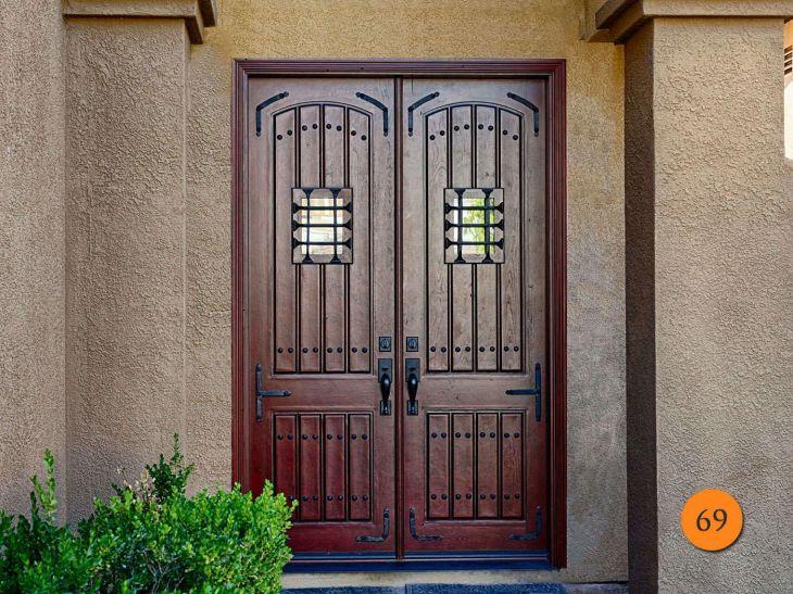 Foot Fiberglass Double Entry Doors