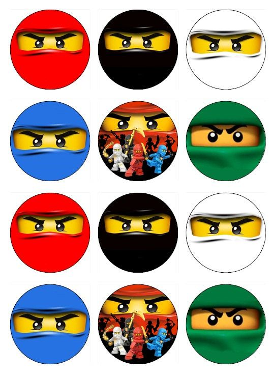 NINJAGO Edible Cupcake Toppers 12 Ninja Images For By