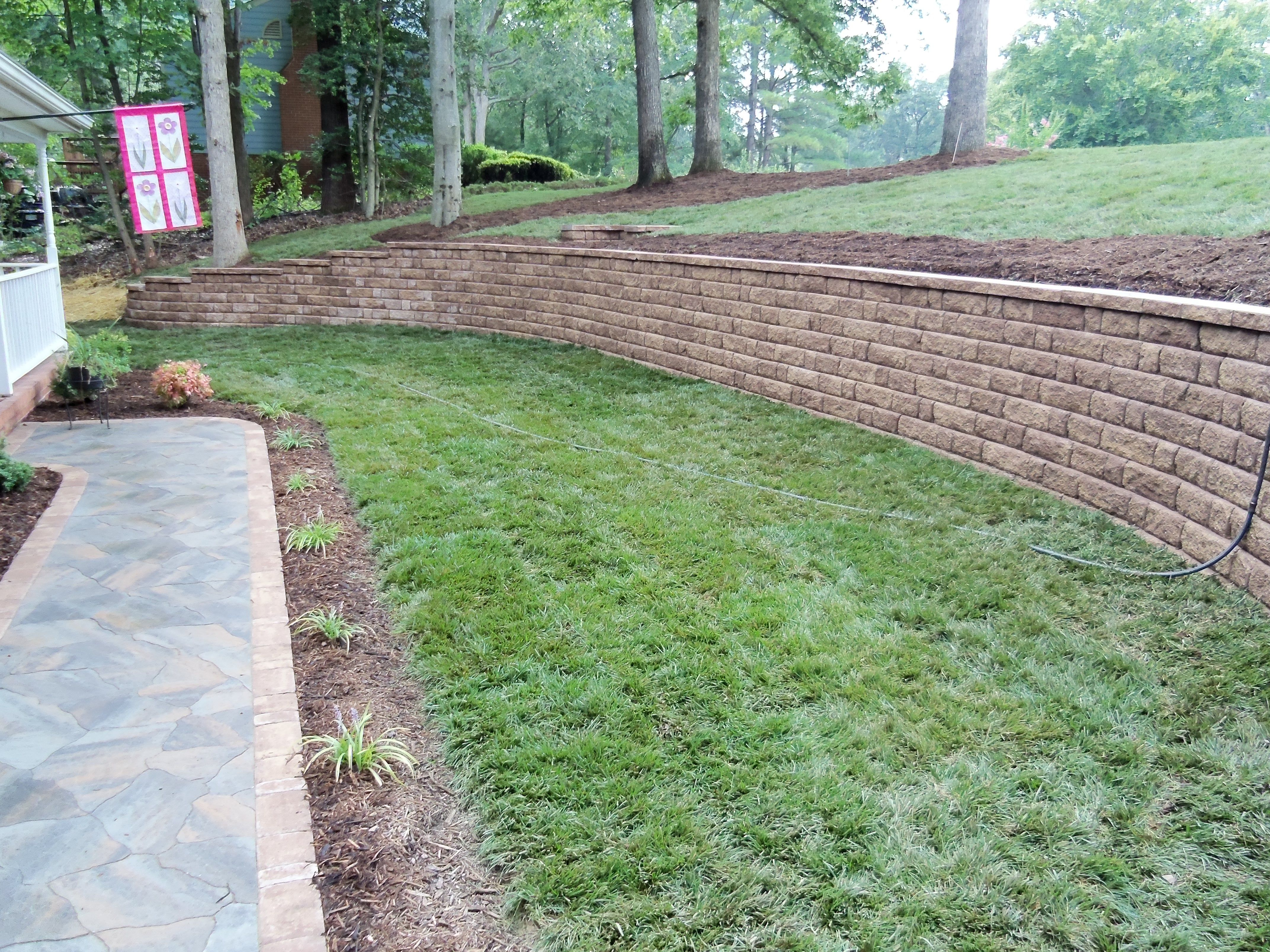 Small Sloping Backyard Landscaping Ideas | Mystical ... on Sloped Yard Ideas id=65078