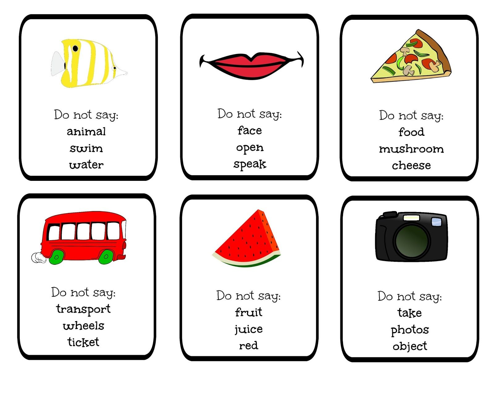 Funglish Funglish Taboo Blog Cards Games Do Not Say Vocabulary Young Learners Teenagers