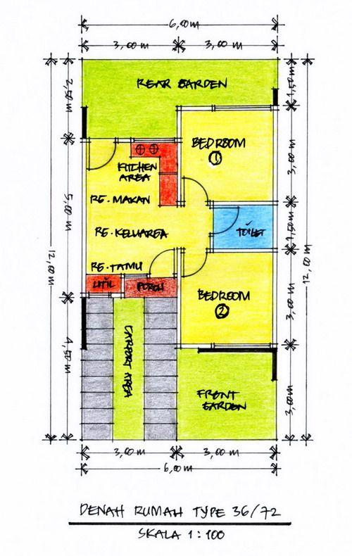Desain Rumah Minimalis Ukuran 6 X 10