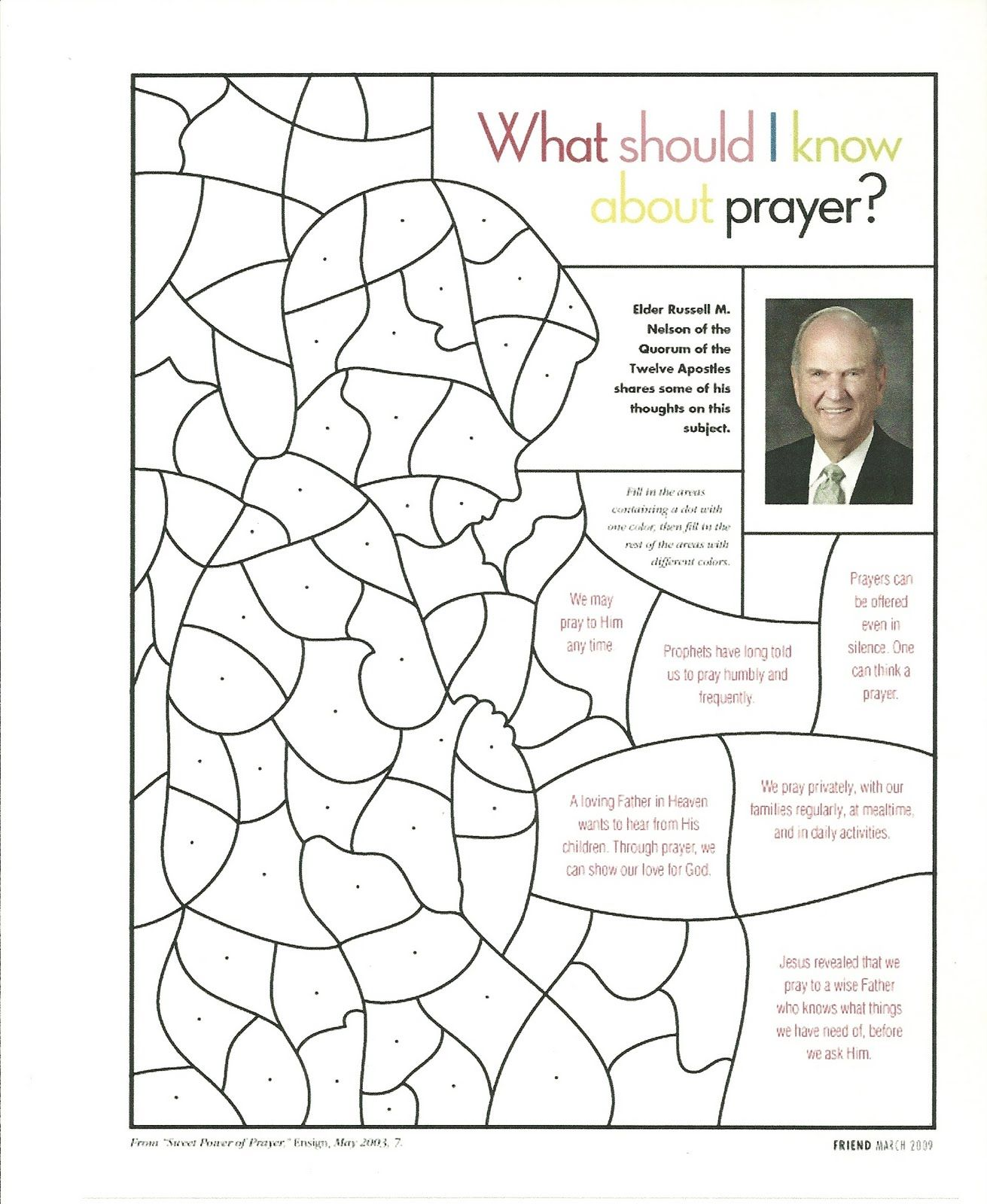Our Father Prayer Coloring Sheet