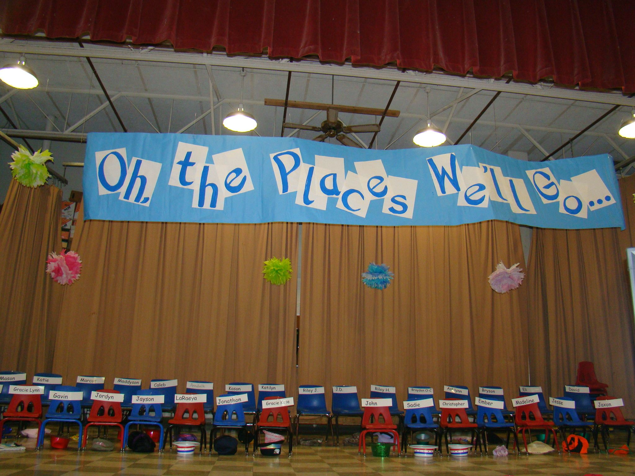 Preschool Graduation Stage Preschool Graduation Dr Seuss