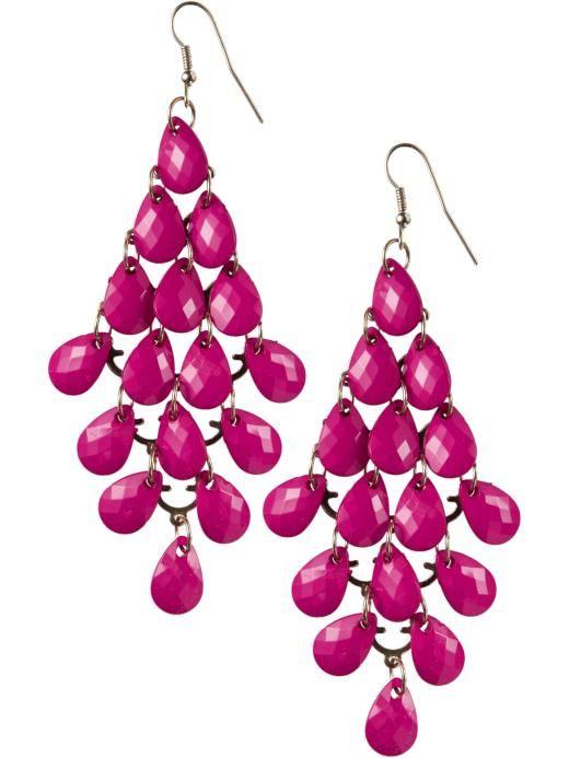 Super Cute Hot Pink Earrings