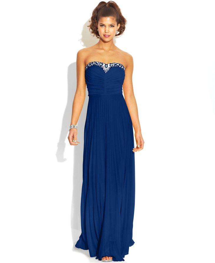 351de6f00b8 B darlin long dresses b darlin juniorsu pleated jeweltrim dress ...