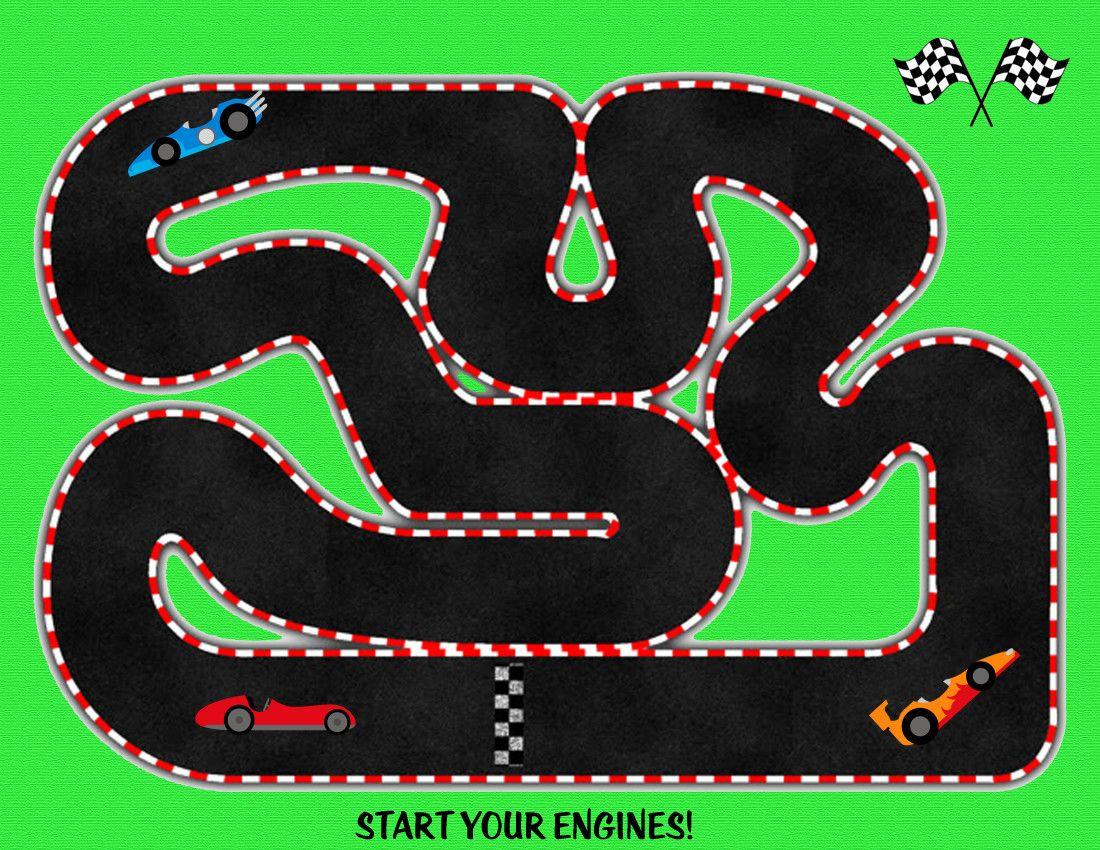 Race Track Printable