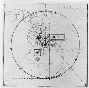 Diagram by Oskar Schlemmer during The Bauhaus for Gesture