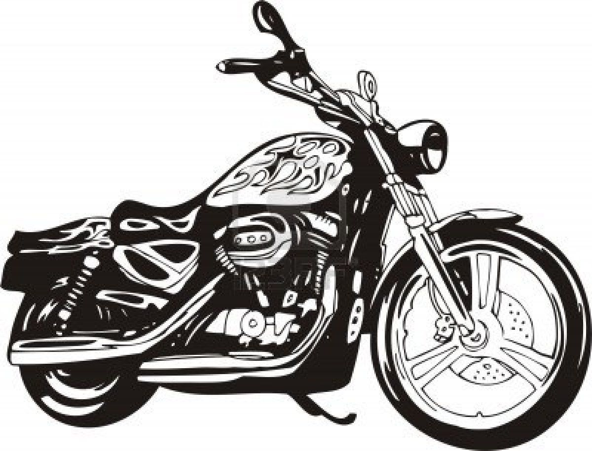 Harley Vector Illustration Stock Photo