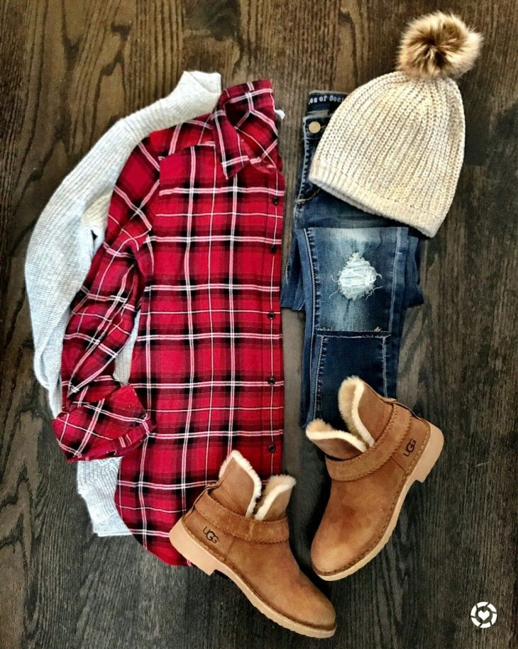 Like the long flannel and dark distressed jeans Also like the