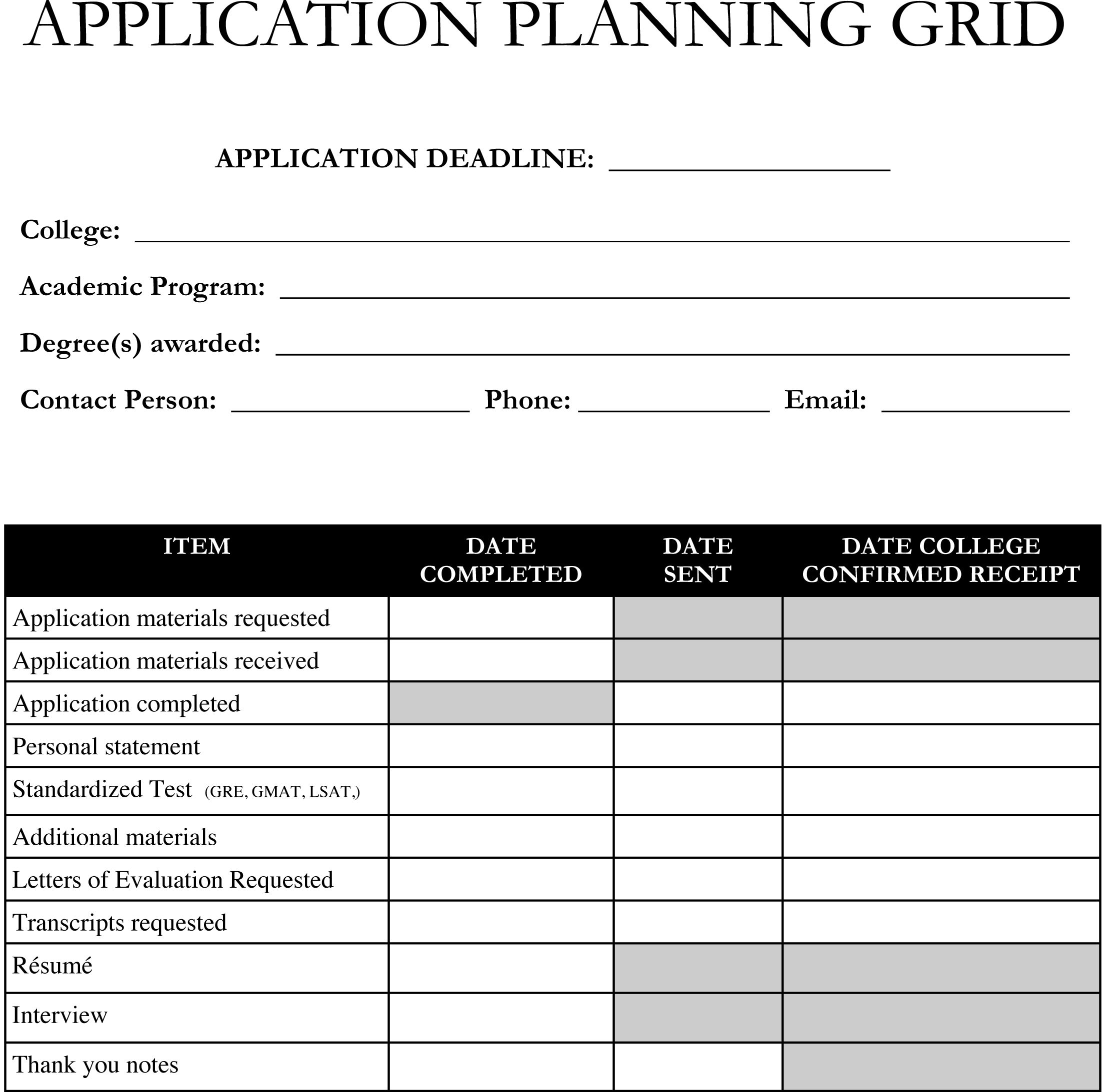Planning On Applying To Graduate School Use This